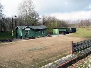 Der ehemalige Bahnhof Löthain im Jahre 2009
