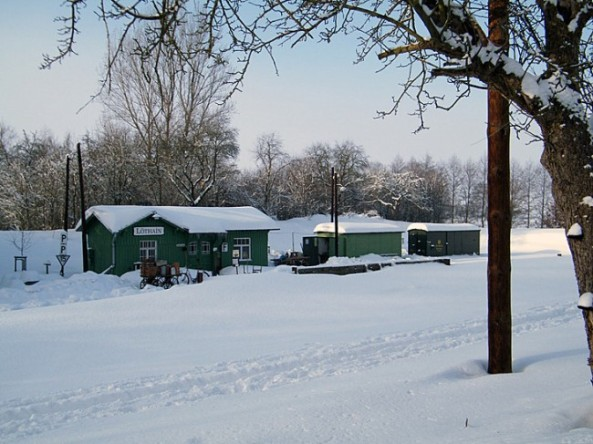 verschneiter Bf Löthain
